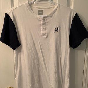 Huf Script Short Sleeve Henley Shirt